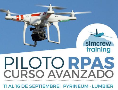 Nuevo curso «Piloto RPAS avanzado» del 11 al 16 de septiembre